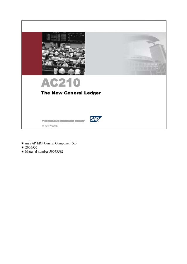 AC210 Das neue HauptbuchFS310 Inkasso/Exkasso          AC210          The New General Ledger           THE BEST-RUN BUSINE...