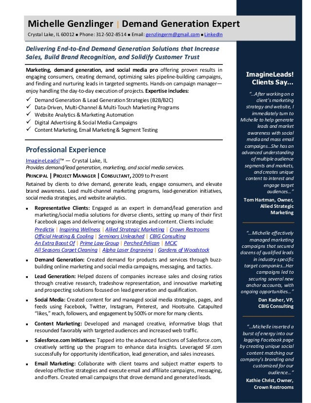demand generation 2015 resume