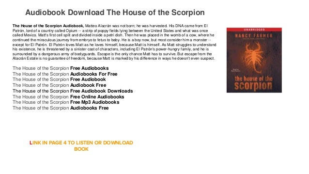 The house of the scorpion audiobook mp3 download free | audiobook mp3….