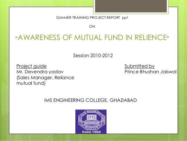 project ppt rh slideshare net Money Market Funds Exchange-Traded Funds