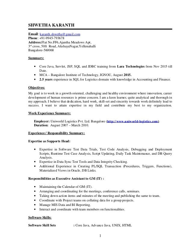 100 sle resume for java developer 2 year experience