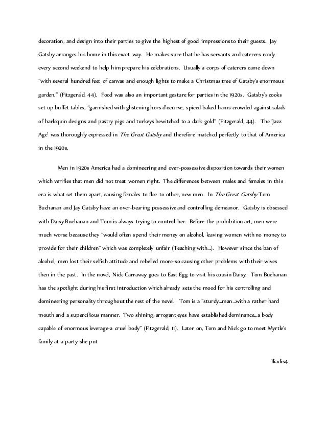 gatsby in s america essay grade   3 decoration
