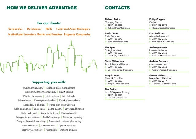 cbre capital advisors brochure