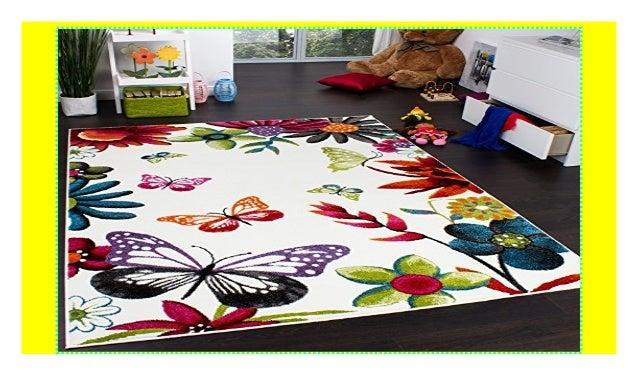 Paco Home Teppich Kinderzimmer Schmetterling Bunt ...