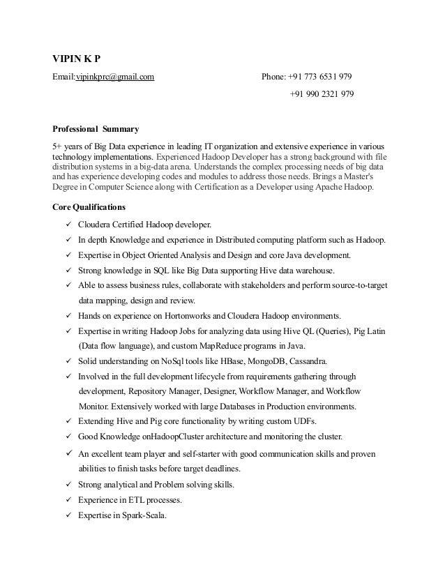 resume vipinkp