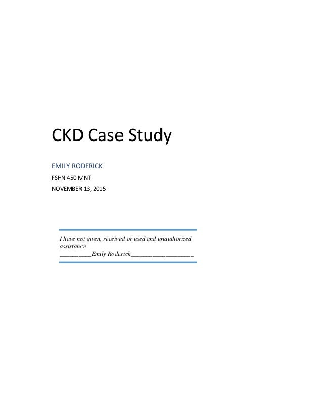 case study on chronic kidney disease   Chronic Kidney Disease