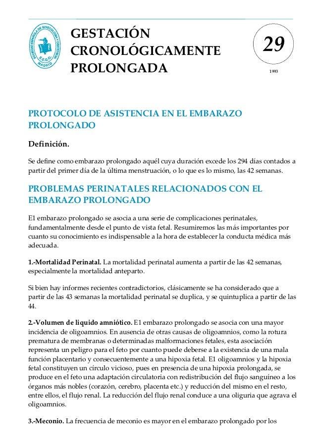 GESTACIÓN              CRONOLÓGICAMENTE                                                    29              PROLONGADA     ...