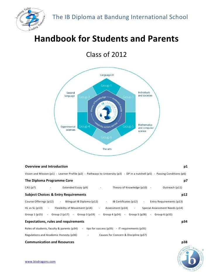 The IB Diploma at Bandung International School          Handbook for Students and Parents                                 ...