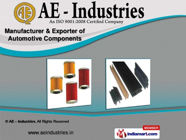 Manufacturer & Exporter of Automotive Components