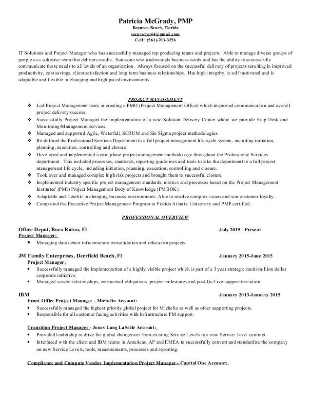 implementation manager resume fl sales