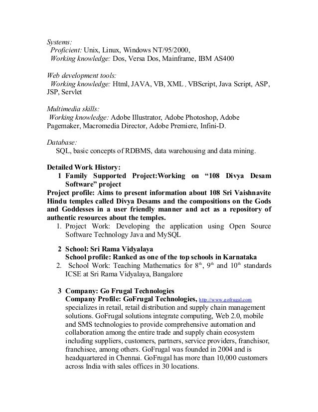 bharath detailed resume