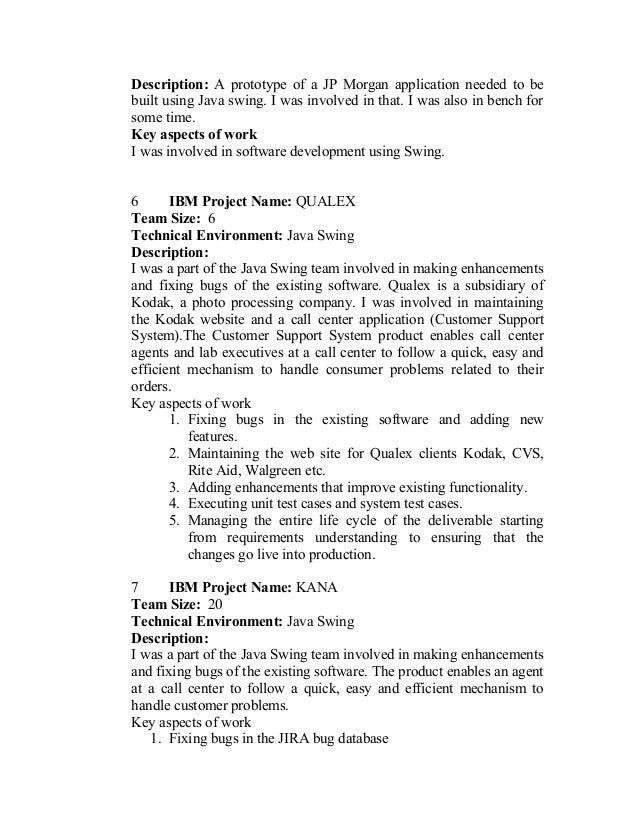 java swing resume