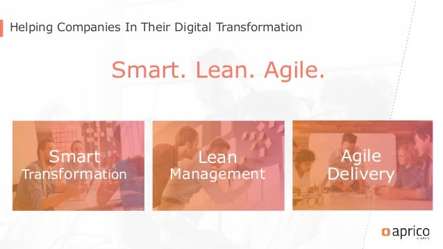 Helping Companies In Their Digital Transformation Smart. Lean. Agile. Smart Transformation Lean Management Agile Delivery