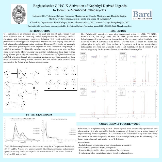 The Palladium(II) complexes were also characterized using 1 H NMR, 13 C NMR, NOESY NMR, and HSQC NMR. The 1 H NMR spectra ...