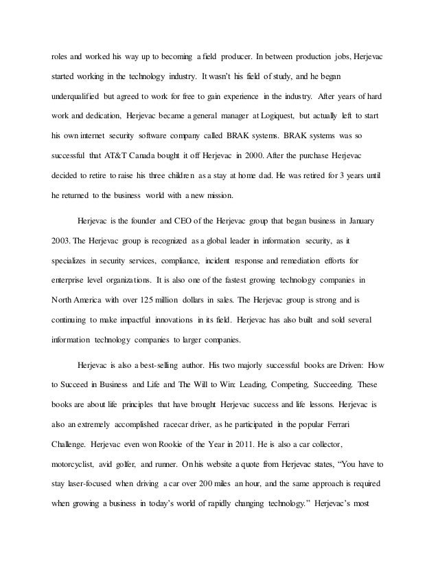 robert herjavec leadership essay