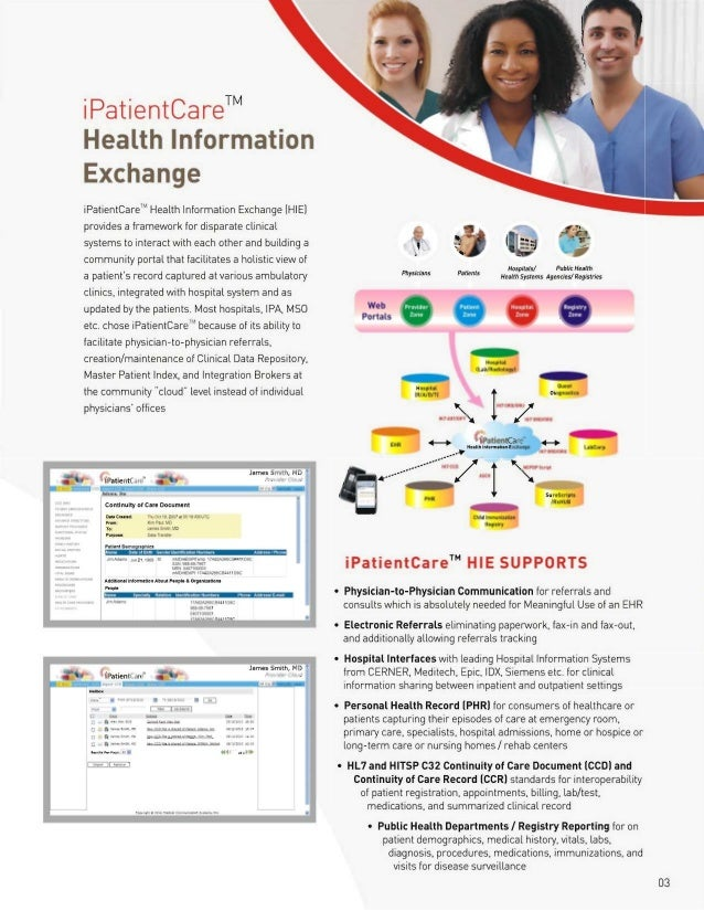 iPatientCare Brochure - Products and Services