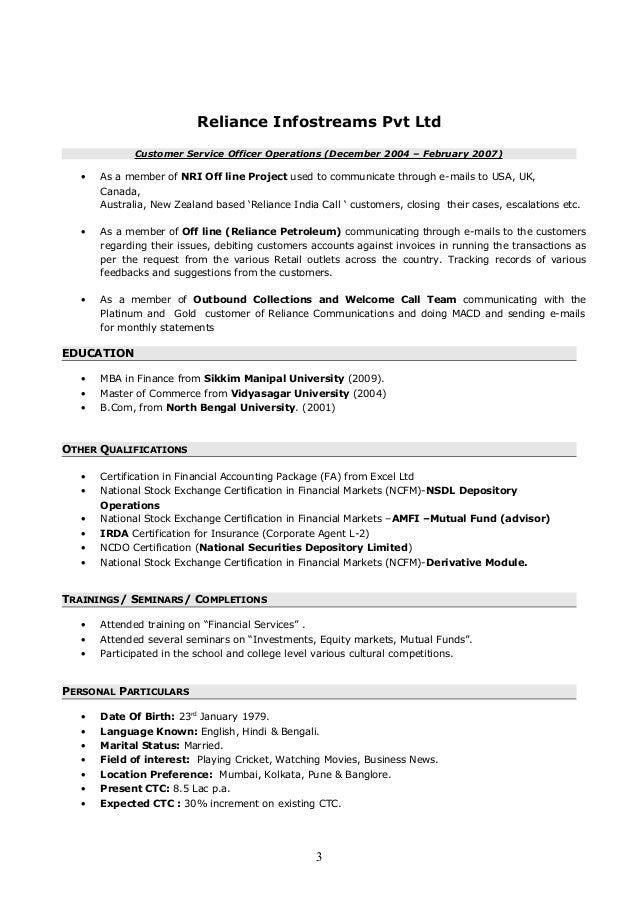resume bm