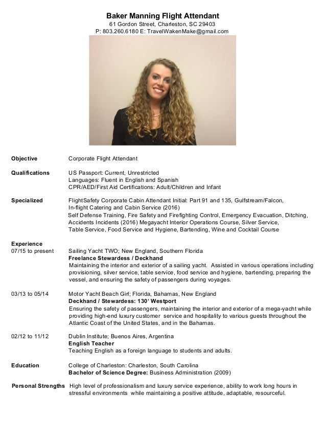Baker-Manning-Flight-Attendant-Resume-2016.Doc (1)