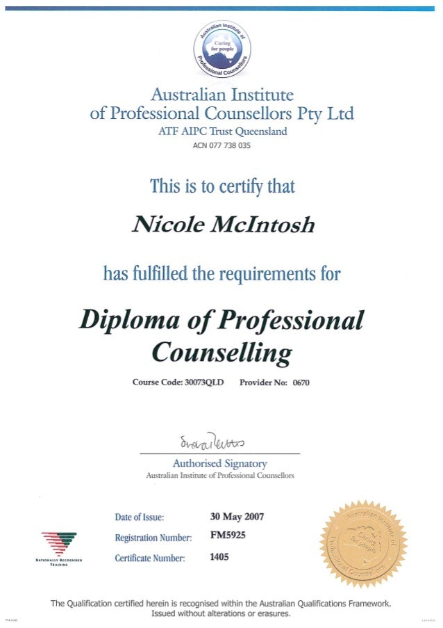 post graduate diploma in counselling
