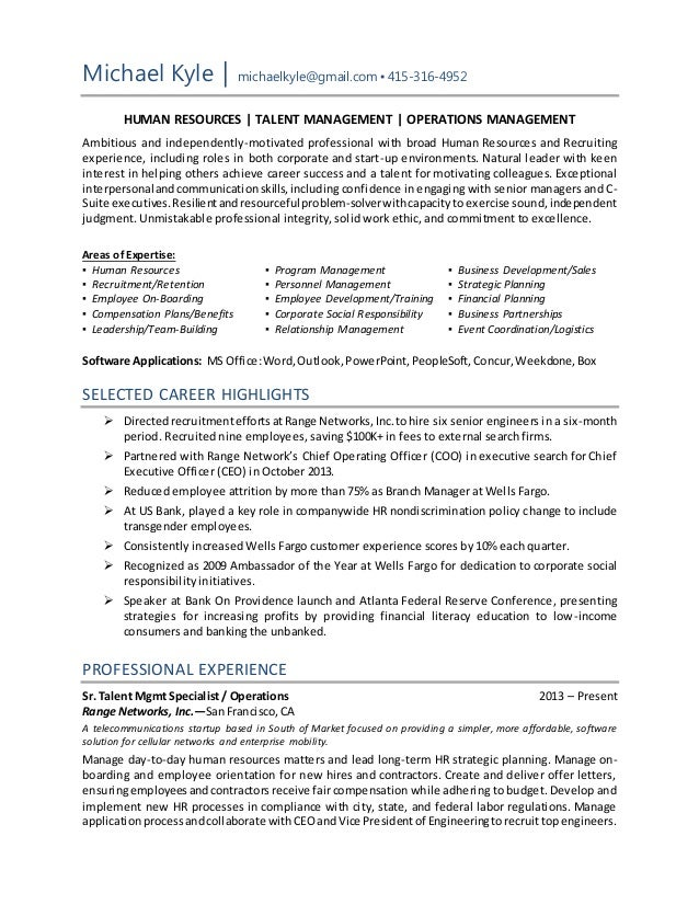 Training Specialist Resume Food Service Specialist Resume Sample ...