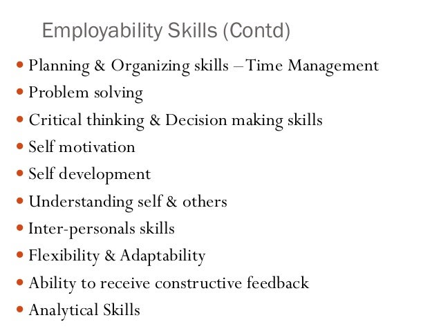 employability interview skills Employability defines the knowledge, skills, attitude and behaviour you need to get work, stay in work and do your job well these are employability skills.