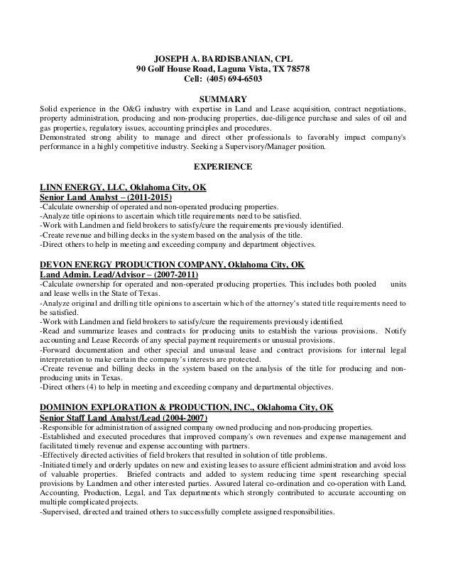 Perfect Linn Energy Resume Illustration - Administrative Officer ...