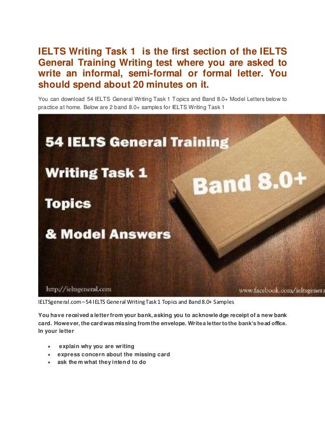 54 ielts general writing task 1 topics and band 80 samples ielts writing task 1 is the first section of the ielts general training writing test where sample letter spiritdancerdesigns Image collections