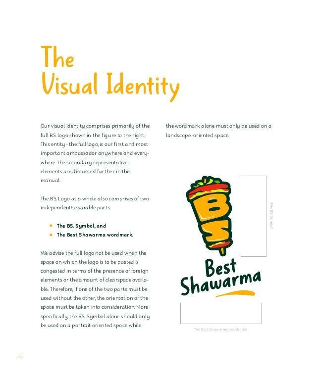 The BS. symbol The Best Shawarma symbol is custom and unique to the brand name acronym - BS. The symbol revolves around th...