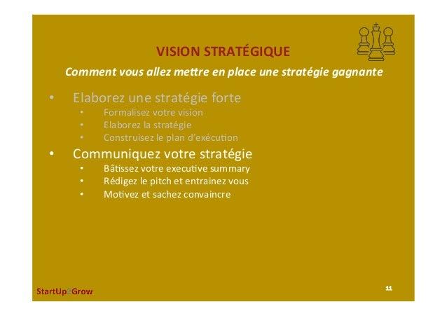 VISIONSTRATÉGIQUE • Elaborezunestratégieforte • Formalisezvotrevision • Elaborezlastratégie • Construisez...