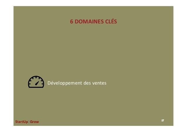 6DOMAINESCLÉS 17 Développementdesventes