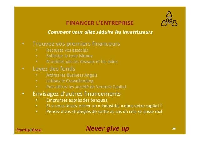 FINANCERL'ENTREPRISE • Trouvezvospremiersfinanceurs • Recrutezvosassociés • SollicitezleLoveMoney • N'oubl...