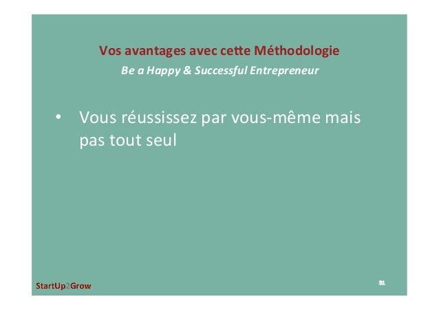 • Vousréussissezparvous-mêmemais pastoutseul VosavantagesavecceJeMéthodologie BeaHappy&SuccessfulEntre...