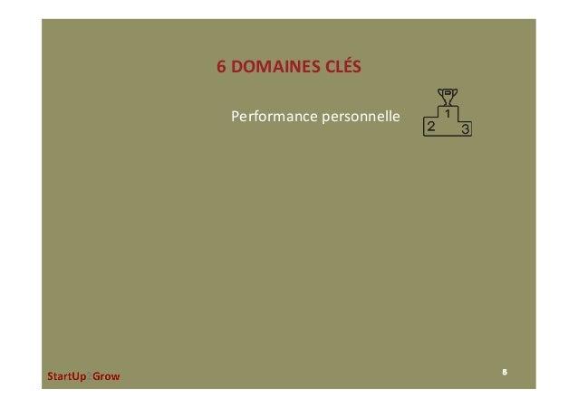 6DOMAINESCLÉS 5 Performancepersonnelle