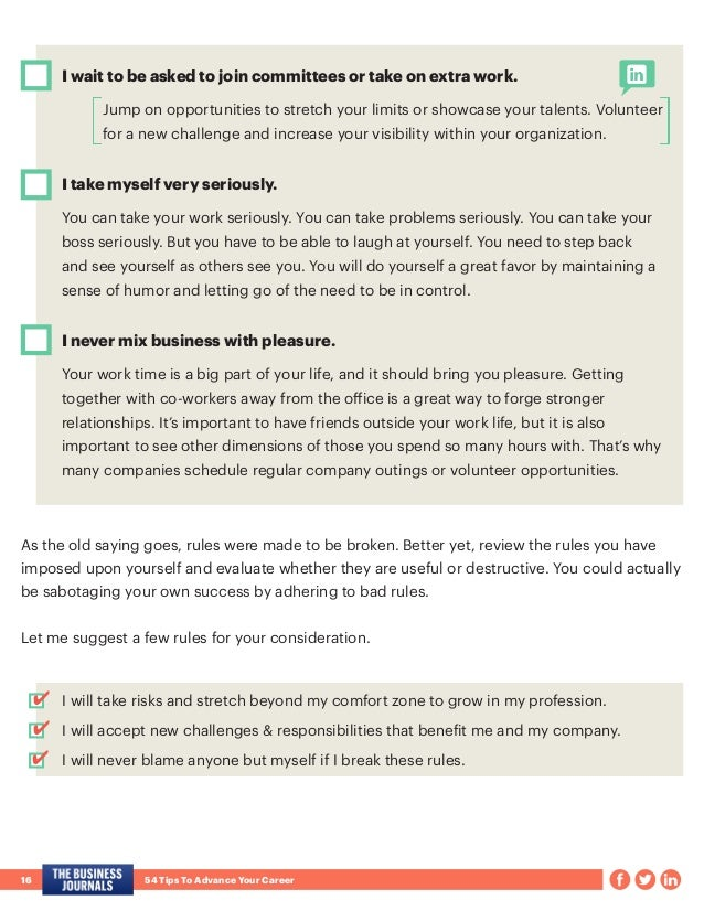 54 Tips To Advance Your Career
