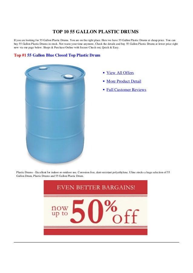 55 Gallon Plastic Drums