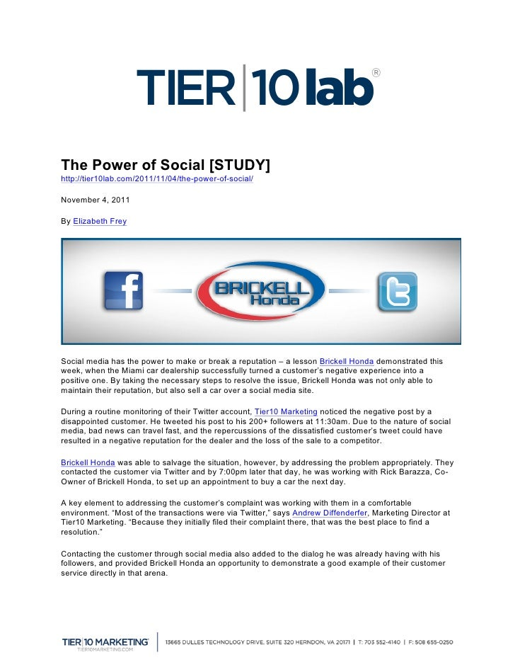 The Power of Social [STUDY]                                               	  http://tier10lab.com/2011/11/04/the-power-of...