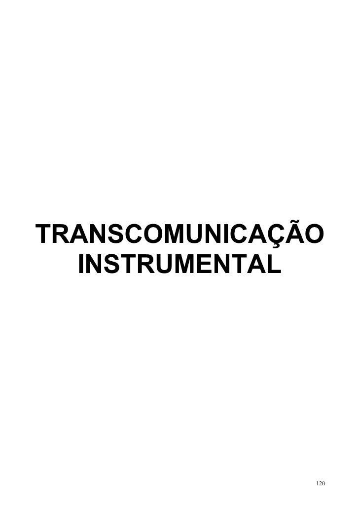 TRANSCOMUNICAÇÃO  INSTRUMENTAL               120