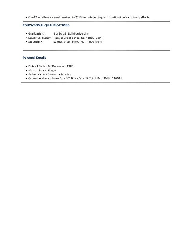 Resume metasolv
