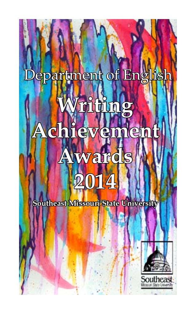 Department of English Writing Achievement Awards 2014 Southeast Missouri State University