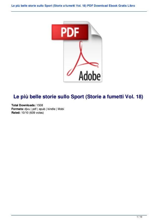 Le pi� belle storie sullo Sport (Storie a fumetti Vol. 18) PDF Download Ebook Gratis Libro Le pi� belle storie sullo Sport...