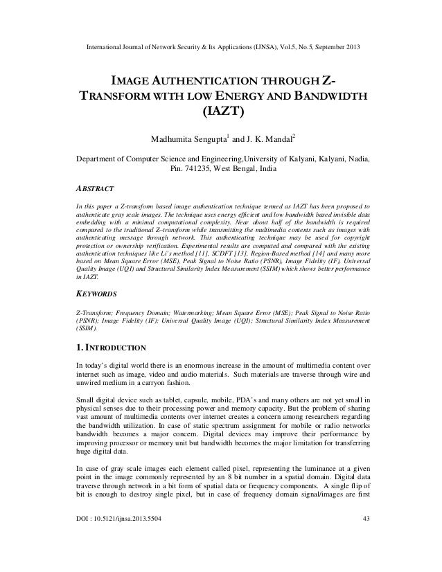 International Journal of Network Security & Its Applications (IJNSA), Vol.5, No.5, September 2013 DOI : 10.5121/ijnsa.2013...