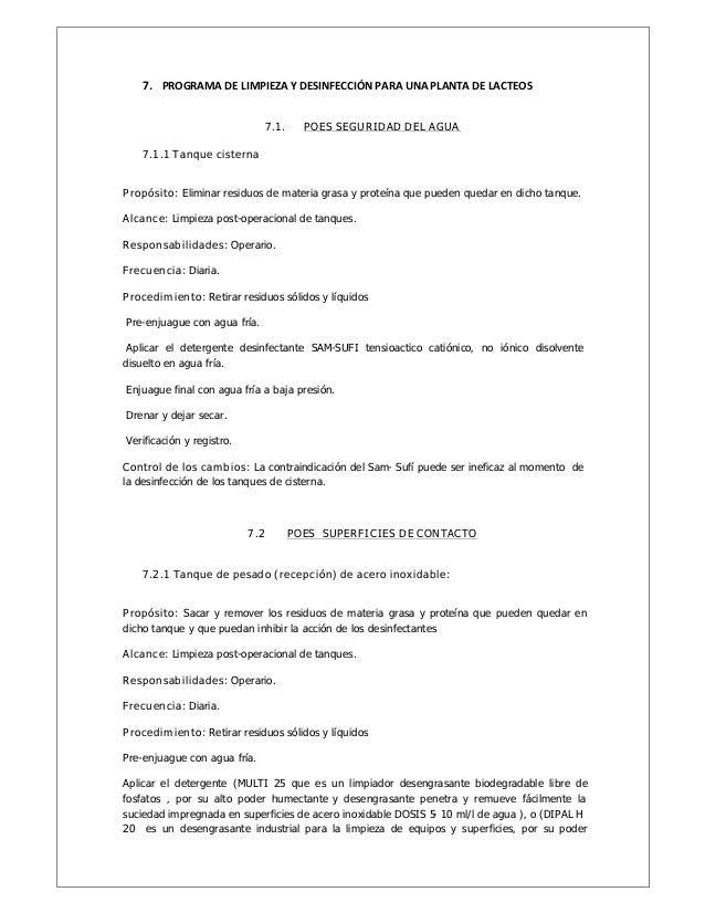 Manual de poes for Manual de limpieza y desinfeccion para una cocina