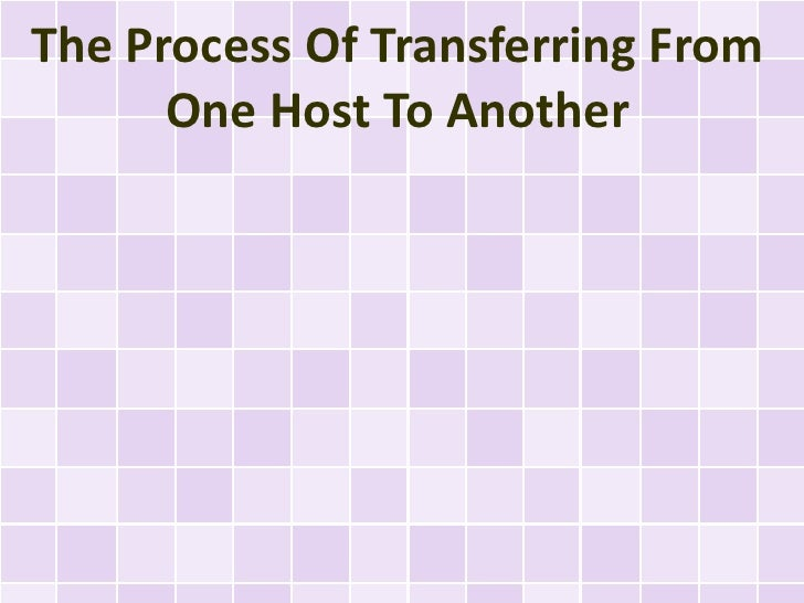 The Process Of Transferring From      One Host To Another