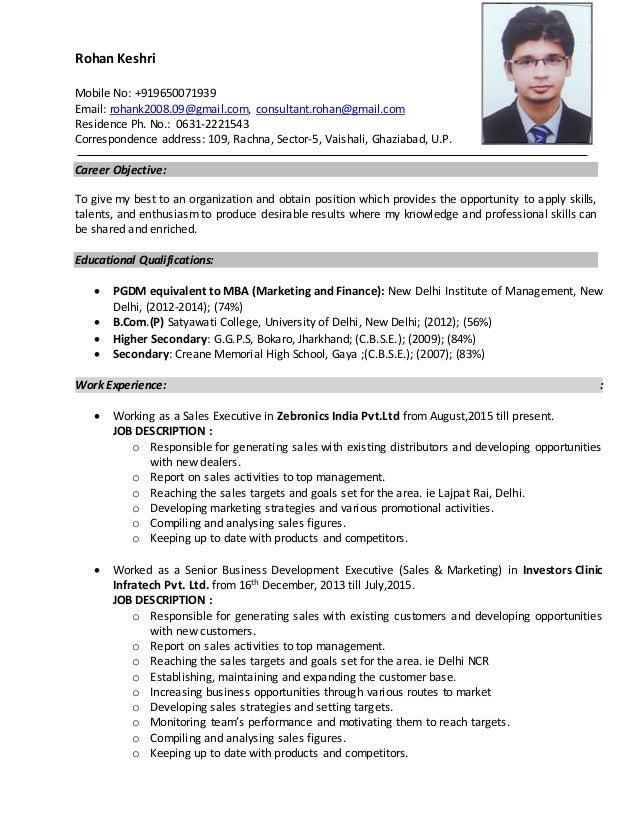 Rohan Keshri Mobile No: +919650071939 Email: rohank2008.09@gmail.com, consultant.rohan@gmail.com Residence Ph. No.: 0631-2...