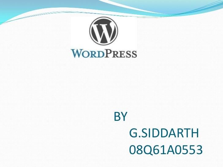BY     G.SIDDARTH     08Q61A0553