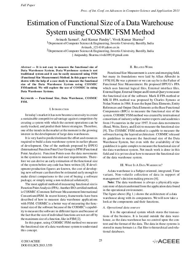 Full Paper Proc. of Int. Conf. on Advances in Computer Science and Application 2013  Estimation of Functional Size of a Da...