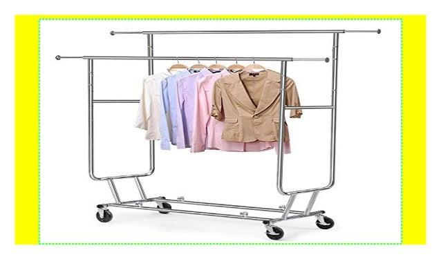 Yaheetech Kleiderstander Garderobenstander Kleiderstange Mit 4 Rolle