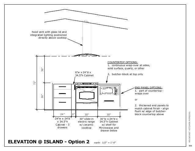 Kitchen Island Elevation reuwsaat kitchen remodel - option 1