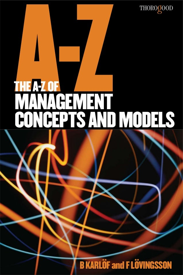 A-ZTHE A-Z OFMANAGEMENTCONCEPTS AND MODELS             B KARLÖF and F LÖVINGSSON