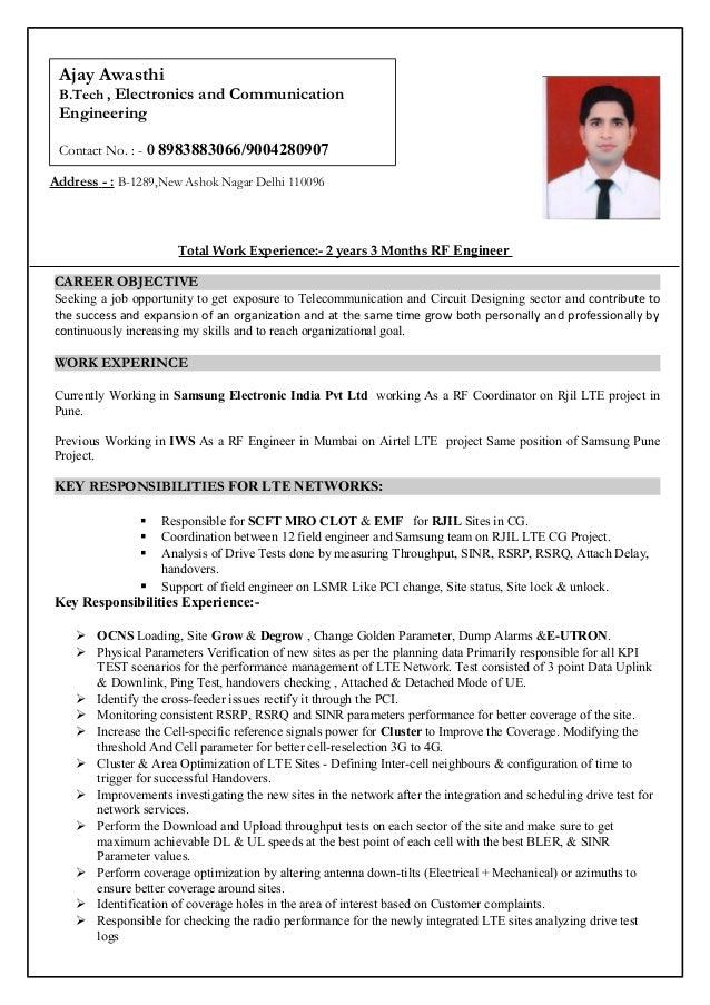 ajay awasthi resume
